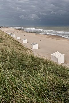Strandhuisjes in Domburg van Jacqueline Lodder