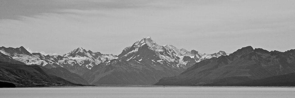 Aoraki/Mt Cook (zwart-wit)