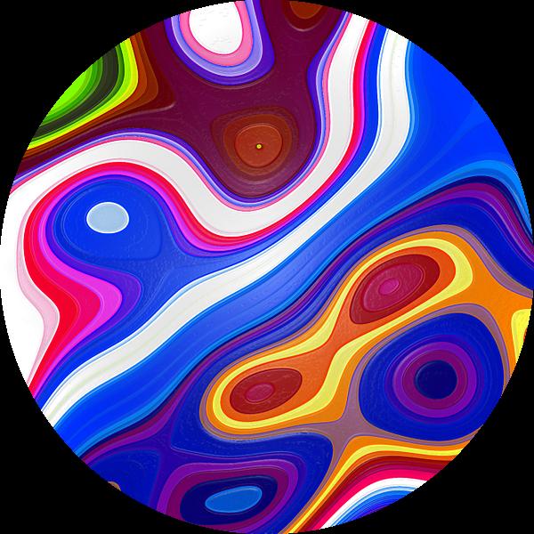 Colored Fractal 2 van Gerrit Zomerman