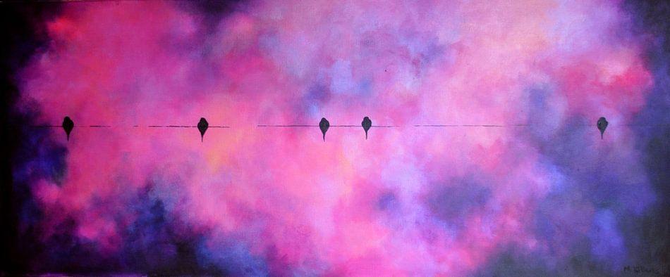 Birds on a wire Purple