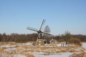 De molen van de Weerribben in de winter van Fotografie Fryslân