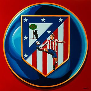 Atletico Madrid Schilderij