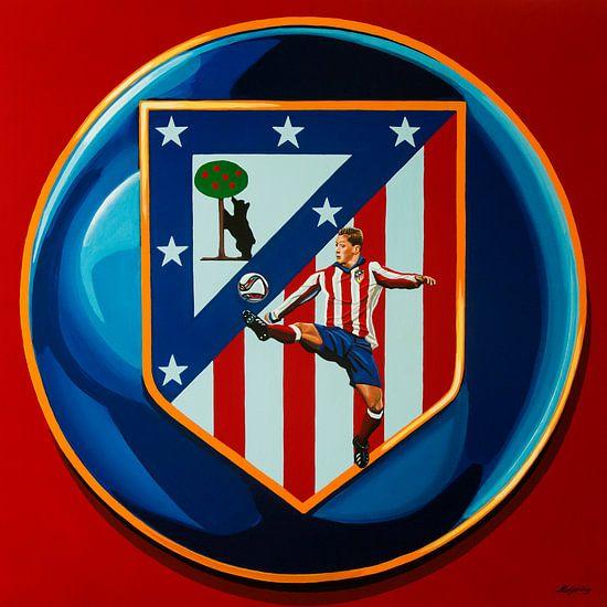 Atletico Madrid Schilderij van Paul Meijering