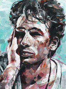 Jeff Buckley Gemälde von Jos Hoppenbrouwers