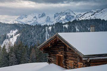 Berghut in Winterlandschap van Coen Weesjes