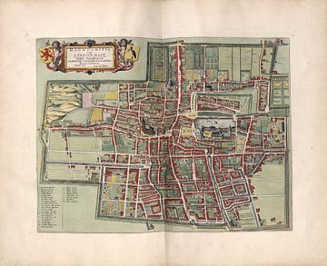 Den Haag of 's Gravenhage, Stadsplattegrond Joan Blaeu 1652 van Atelier Liesjes