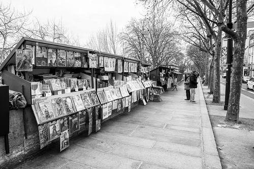Boekenstalletjes aan de Seine in Parijs