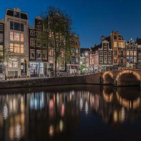 Rustige avond aan de Torensluis in Amsterdam van Jeroen de Jongh