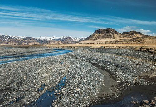 Eindeloze vlakte, IJslands landschap, IJsland van