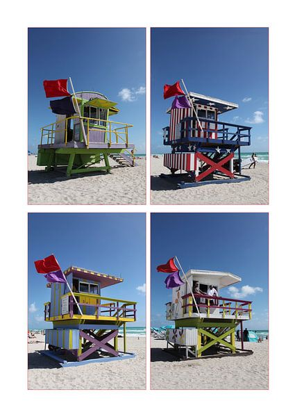 Miami Beach Life Guard Towers van Esther Hereijgers