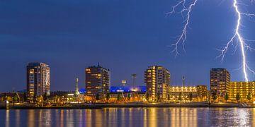 De Kuip met bliksem inslag - Feyenoord Rotterdam (1) von Tux Photography