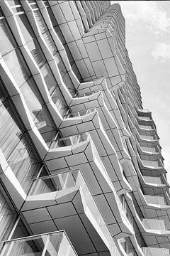 Architectuur in zwart wit. Hartje New York in Eindhoven van Marianne van der Zee