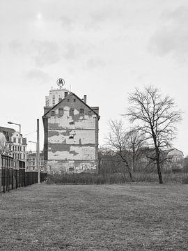 Brandmauer im Leipziger Osten