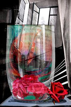 Spiegelen 02 van Gertrud Scheffler