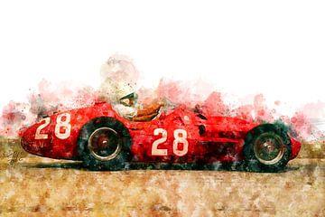Stirling Moss, Maserati 250F von Theodor Decker