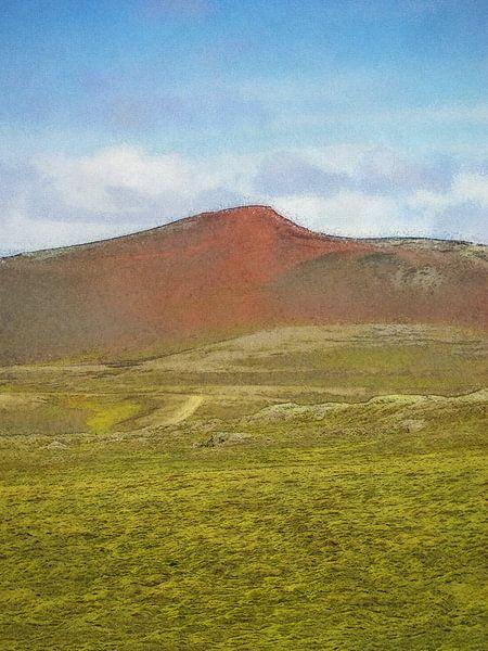 De kleuren van Laki, IJsland van Frans Blok