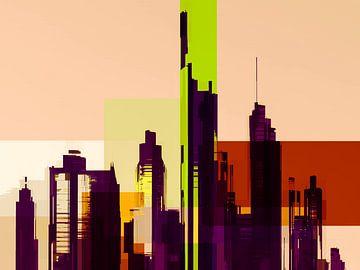 Modern, Stadtlandschaft, Hauptstadt. von SydWyn Art