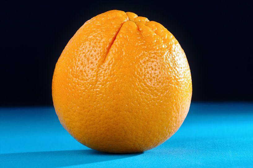 Orange auf Blau sur Jan Brons
