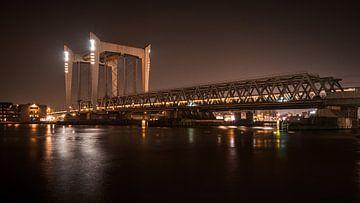 Eisenbahnbrücke Dordrecht von Danny van der Waal