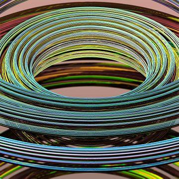 Structures annulaires à partir de fractales de Mandelbulb sur Frank Heinz