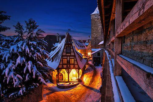 Gerlachschmiede, Rothenburg ob der Tauber im Winter
