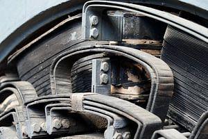 Oude elektrische motor van HGU Foto