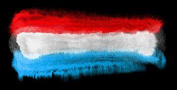Symbolische nationale vlag van Luxemburg van Achim Prill