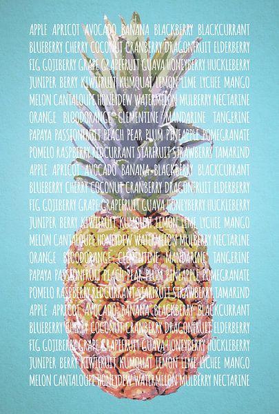 Fruities in kleur Ananas van Sharon Harthoorn