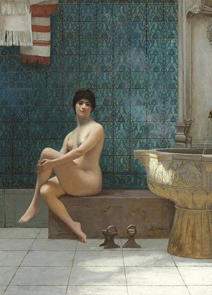 Badende am Brousse-Pool, Jean-Léon Gérôme von Meesterlijcke Meesters