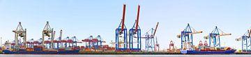 Container harbour at Hamburg van