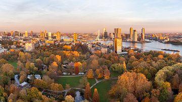Herfstpanorama Rotterdam van Jeroen Kleiberg