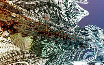 Abstracte filigraan Mandelbulb fractals