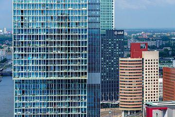 De Rotterdam en Kop van Zuid vanaf het World Port Center von Mark De Rooij