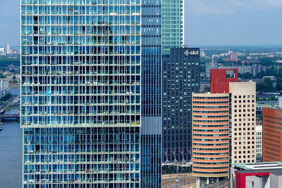 De Rotterdam en Kop van Zuid vanaf het World Port Center van Mark De Rooij