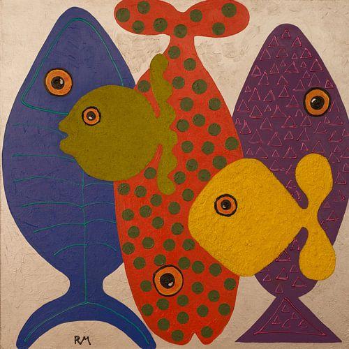 Funny fish 7 van Ria van Meijeren
