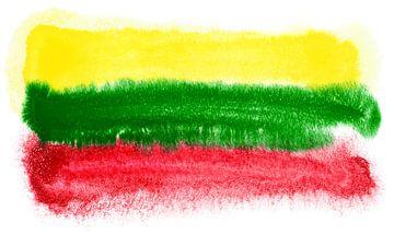 Symbolische nationale vlag van Litouwen van Achim Prill