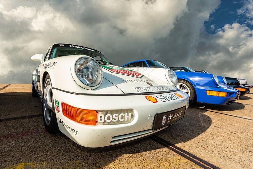 Porsches op een rij. van Brian Morgan