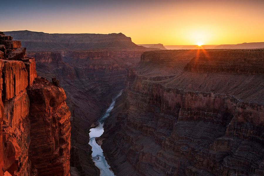 Grand Canyon N.P North Rim with the view from Toroweap van Henk Meijer Photography