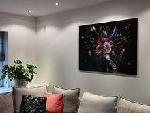Klantfoto: Royal Beauty Bloemstilleven van Sander Van Laar, op aluminium