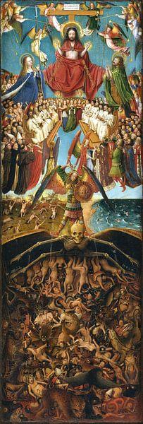 Jan Van Eyck - Tweeluik, rechterpaneel paneel van 1000 Schilderijen