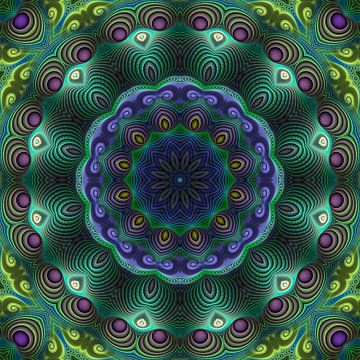 Mandala puissance de la nature sur Marion Tenbergen