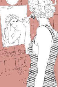 Krullend haar en een blos van