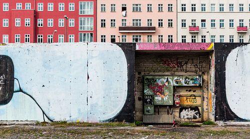 Berlijn, Duitsland: muur compositie van Steve Van Hoyweghen