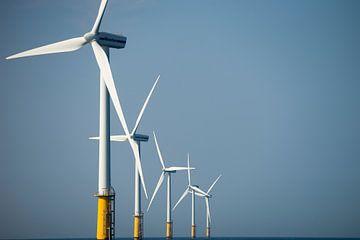 Windturbines op zee van Menno Mulder