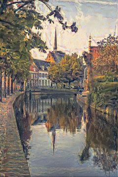 Klassiek kunstwerk Amersfoort: de schilderachtige Westsingel