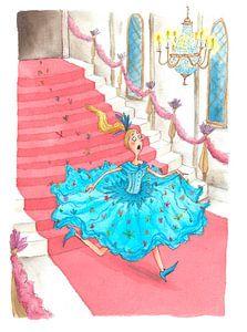 Cinderella - Aquarell-Illustration für Kinder
