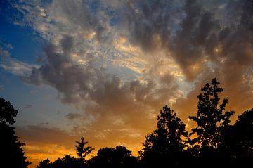 Mooie lucht met wolken van Corinne Welp