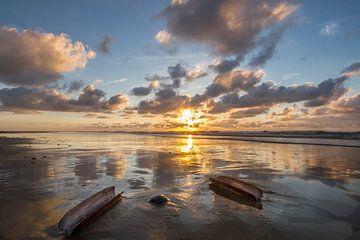 Sunset op Terschelling sur Foto van Anno
