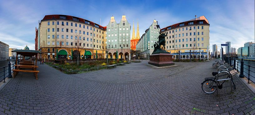 Panorama du quartier Nikolai à Berlin sur Frank Herrmann