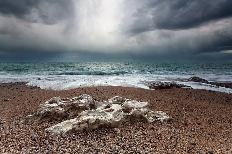 Stormy coast van Olha Rohulya